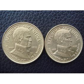 Argentina - Set De 2 Monedas De 10 Y 5 Pesos, Año 1977 - Exc