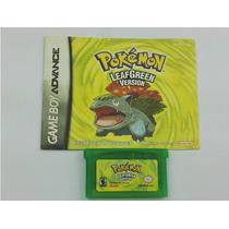 Pokemon Leaf Green Com Manual - Salvando 100%