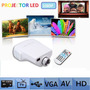 Proyector Led Video Beam Hdmi Usb Vga 100 Pulgadas 1080p