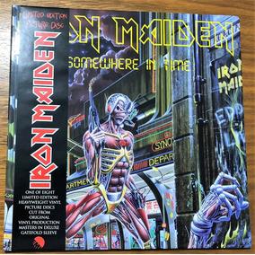 Album Iron Maiden - Somewhere In Time Picture Autografado