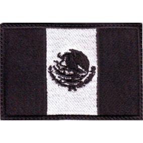 México Bandera Negro Parche Bordado Militar Gotcha Tactico