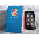 Cel Moto C Preto Xt1755 Dual Sim 4g 16g Tela 5 , Novo