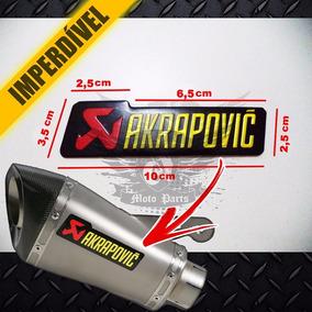 Emblema Adesivo Alumínio Alta Temperatura Akrapovic Chapa