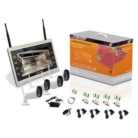 Kit Com 4 Câmeras De Cftv Ip Wireless Full Hd 2 Mp Bullet