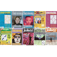 Lote X 10 - Revistas Crucigramas - Quijote, Master, Joker