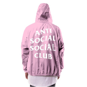 Jaqueta Anti Social Club Supreme Louis Vuitton Rosa Swag