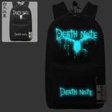 Mochila Death Note Cosplay Brilha No Escuro Lançamento