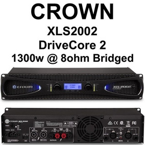 Crown Xls2002 Amplificador Stereo 1300 Watts 8 Ohms Bridge