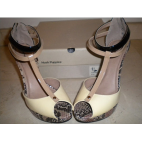 Zapatos Tacon Alto Animal Print Con Negro 38 Hush P. Nuevos!