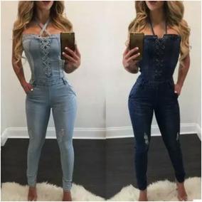 Macacão Jeans Longo Importado Codlm59012