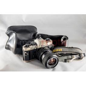 Nikon Fm10 Com Capa Original - Funcionando Brinde 5 Filtros