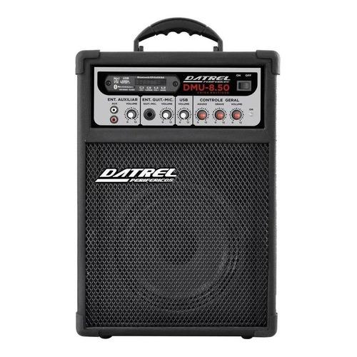 Caixa de som Datrel DMU-8.50 portátil com bluetooth preta 127V/220V
