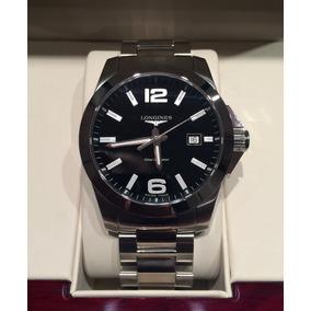 Reloj Longines Mod Conquest 41mm Negro Nuevo