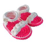 Sandalias De Bebe Tejido Al Crochet