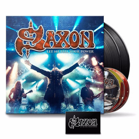 Saxon - Let Me Feel Your Power - 2lps+2cds+blu Ray - Lacrado