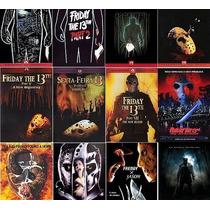 Dvds Terror Coleção Completa Sexta Feira 13 12 Dvds Frete G