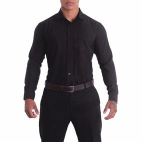 Camisa Social Masculina Lisa Manga Longa - Várias Cores 35b6a04fb51b6