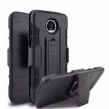 Capa Super Proteção 3x1 Clipe Cinto P/ Motorola Moto Z Play