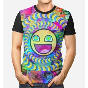 Camiseta Roupa Unissex Camisa 3d Full Psicodélico Minions