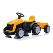 Tractor A Batería 6v Con Trailer Amarillo Shj61908t