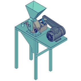 Planos 3d Construye Molino Pulverizador De Maiz Granos Trigo