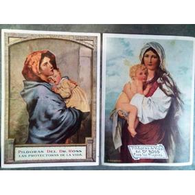 Par De Antiguos Cromos Publicidad Antigua Pildoras Dr Ross