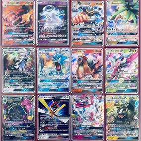 Lote Cartas Pokemon 200 Cartas + 10 Raras + 1 Gx, Ex Ou Mega