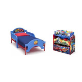 Combo Cama Con Juguetero Blaze The Monster Machines