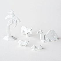 Pesebre Cien 80 Grados De Porcelana Origami Natividad Anima