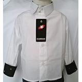 Camisa Infantil Manga Longa Slim