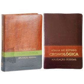 Bíblia De Estudo Cronológica Aplicação Pessoal Capa Luxo.