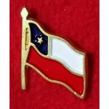 Banderas, Escudos Y Pines Metálicos Chilenos.