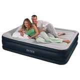 Colchón Cama Inflable Queen Sommier Intex 2 1/2 Pl Electrico