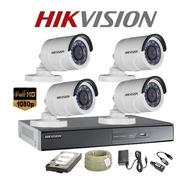 Cámaras De Seguridad Kit Cctv Hikvision 1080p Dvr 8ch + 4cam