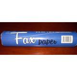 Lote De 10 Rollos De Papel Para Fax Rubrica (216mm X 30m)