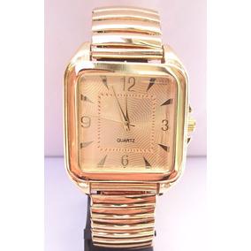 Relógio Dourado Feminino Barato Quadrado Lindo Top