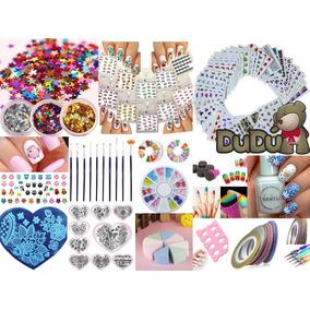 Kit Uñas Stamping Decoración Placas Accesorios Esculpidas