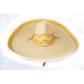 Sombrero Charro Hueso Oro Adulto Fino Escaramuza Crema Dorad d0f999134618