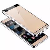 Funda Slim Tpu Borde Metalizado Huawei P8 P8 Lite + Templado
