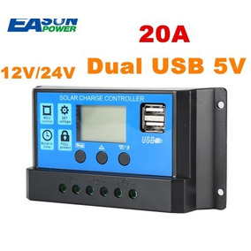 Controlador Regulador 20a Panel Solar 12/24v Usb Envio Incl