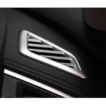 Aplique Moldura Honda Civic 2017 Saídas De Ar Painel Prata