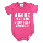 Body De Bebê Infantil Rosa Dinda Ciumenta Bb01