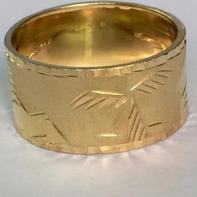 Promoção Anel Aliança Escrava Egípcio 10mm 2.8gr Ouro 18k750