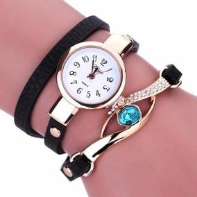 Relógio E Pulseira Feminino Tipo Bracelete Dk9 Blue -rel