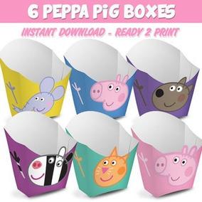 Cajitas Para Dulces - Papitas Digitales Peppa Pig
