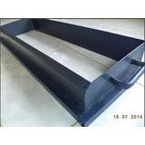 Forma Manual Em Aço Para Fazer Meio Fio De 80x25x10x08cm