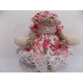 Boneca De Pano Mini Rosinha 14 Cm