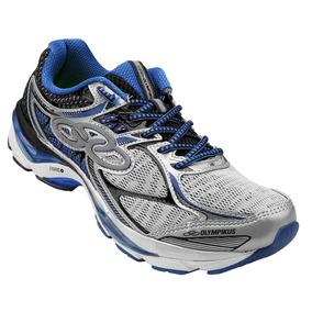 Tênis Olympikus Faster 4 - Prata/azul Royal Masculino