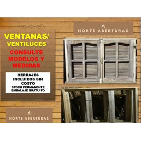 Puertas Ventanas Algarrobo Vidrio Entero Vidrios Repartidos
