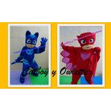 Cabezon Pj Mask Heroes En Pijamas Mickey Minnie Peppa Minion